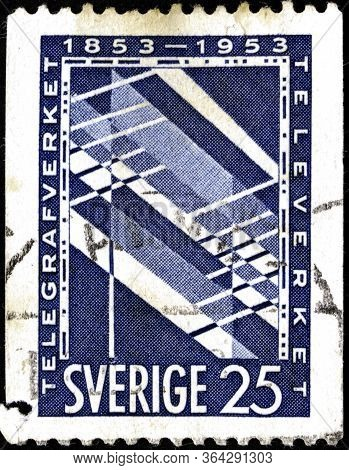 02 11 2020 Divnoe Stavropol Territory Russia The Postage Stamp Sweden 1953 The 100th Anniversary Of
