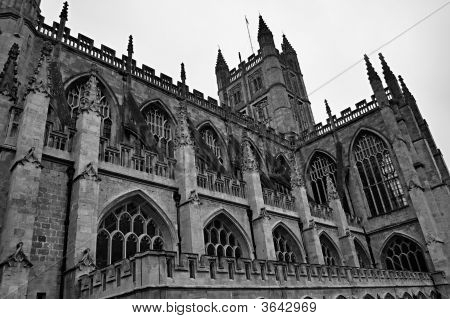 An Angled Shot Of Bath Abbey
