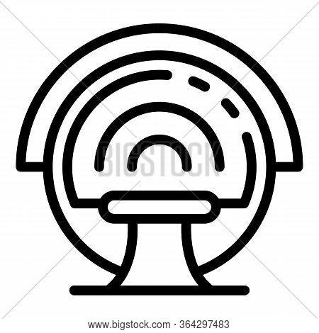 Mri Diagnostics Icon. Outline Mri Diagnostics Vector Icon For Web Design Isolated On White Backgroun
