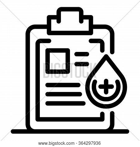 Medical Diagnostic List Icon. Outline Medical Diagnostic List Vector Icon For Web Design Isolated On