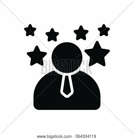 Black Solid Icon For Expert Master Fancier Specialist