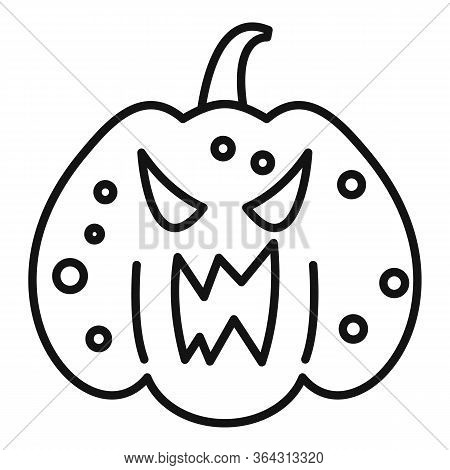 Squash Pumpkin Icon. Outline Squash Pumpkin Vector Icon For Web Design Isolated On White Background