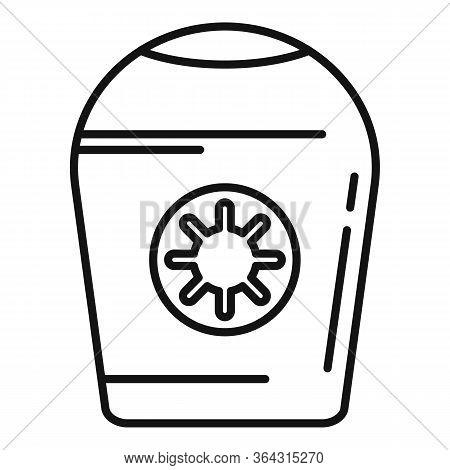Antiseptic Cream Bottle Icon. Outline Antiseptic Cream Bottle Vector Icon For Web Design Isolated On