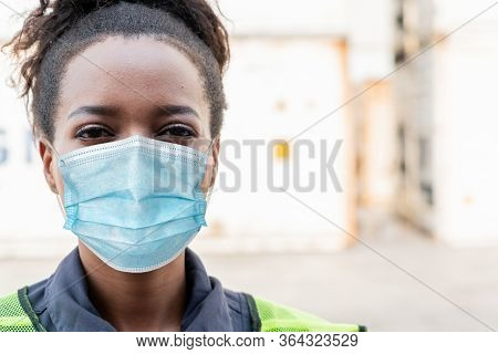 Factory Workers With Face Mask Protect From Outbreak Of Coronavirus Covid-19