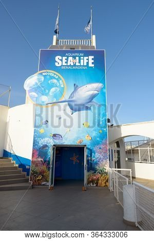 Malaga, Spain - September 3, 2016: Aquarium Sealife Benalmadena