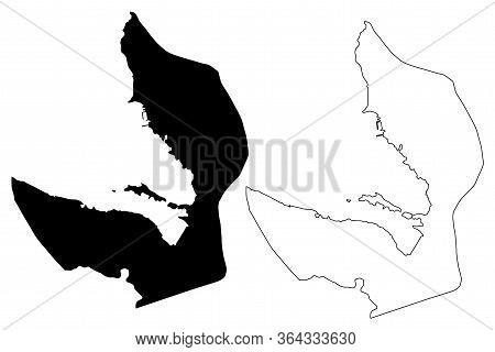 Tivat Municipality (montenegro, Municipalities Of Montenegro) Map Vector Illustration, Scribble Sket