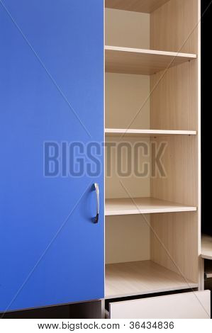 empty wooden shelf, furniture