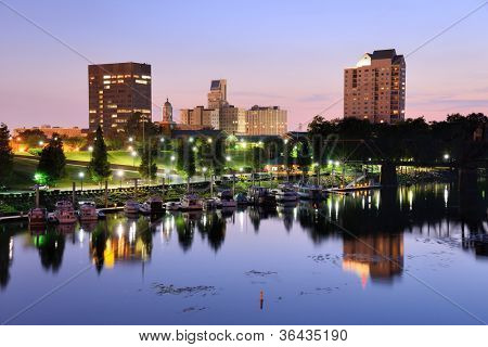 Downtown Augusta, Georgia sits on the Savannah River and is the second most populous city in the state with nearly 200,000 residents.