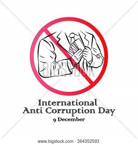 International Anti-corruption Day,  9 December, Banner Poster Anti Corruption Illustration For Print