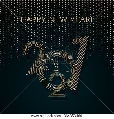 2021 New Year Gold Lines On A Blue Background Creative Element For Design Luxury Card Invitation Par