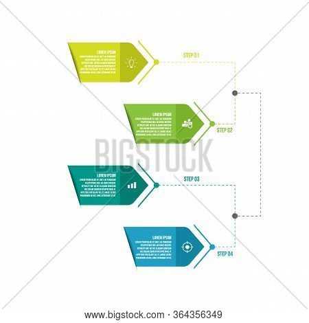 4 Steps Timeline Infographic Template