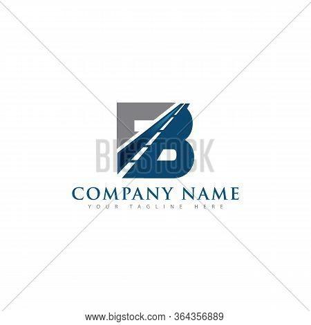 B Letter Road Construction Creative Symbol Logo. Paving Logo Design Concept. Asphalt Repair Company