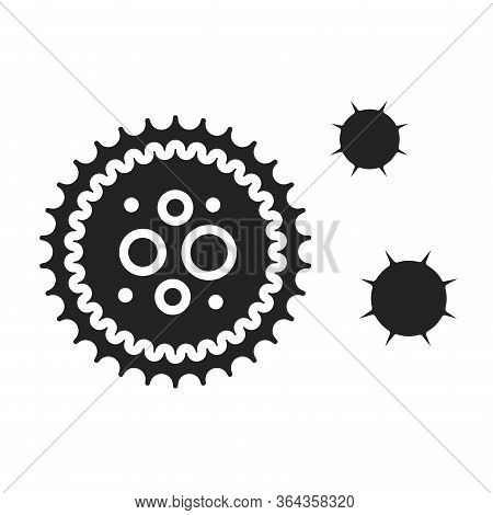 Virus Black Glyph Line Icon. Bacteria, Microorganism Sign. Pictogram For Web Page, Mobile App, Promo
