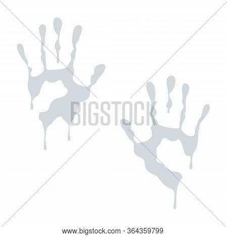 Wet Handprint
