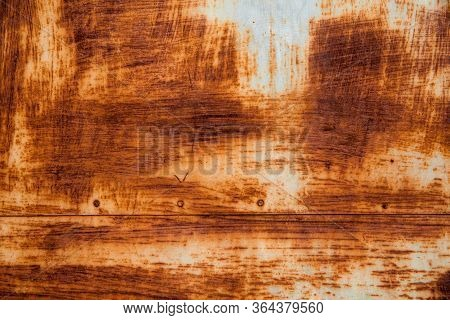 Rusty Surface In Rusty Corten. Oxidized Metal Background. Background