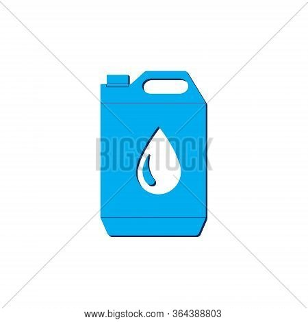 Vector Icon Jerrycan Oil Isometric. 3d Sign Isolated On White Background.