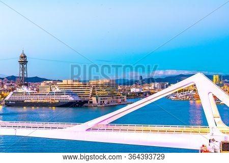 Barcelona, Spaon - November 06 2018: Azamara Pursuit Of Azamara Club Cruises Docked/ Anchored/ Moore