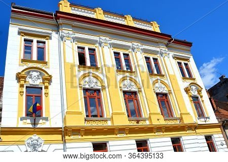 Typical Urban Landscape Of The City Brasov, A Town Situated In Transylvania, Romania, In The Center