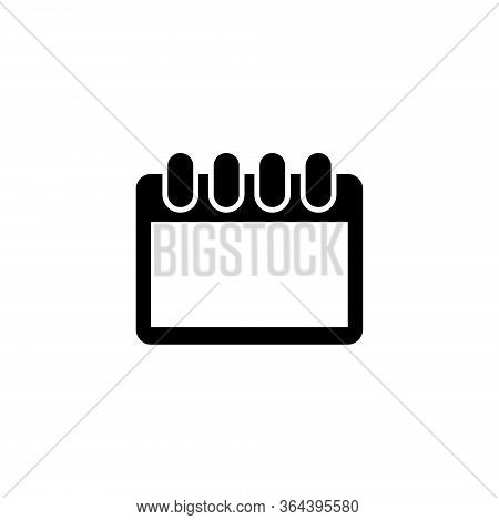 Calendar Organizer, Old Date Reminder. Flat Vector Icon Illustration. Simple Black Symbol On White B