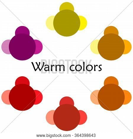 Warm Colors Illustration - Multicolored - Shades And Tones