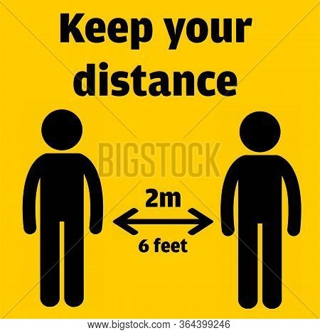 Social Distancing. Keep Your Distance Icon Vector Illustration