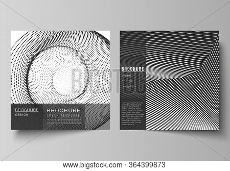 The Minimal Vector Layout Of Two Square Format Covers Design Templates For Brochure, Flyer, Magazine