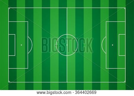 Football Field. Football Markup Template. Standard Ratios Of European Football. Vector Illustration.
