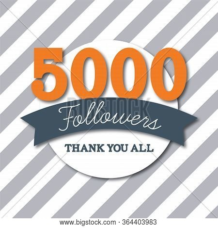 5000 Followers. Thank You All. Social Media Subscribers Banner