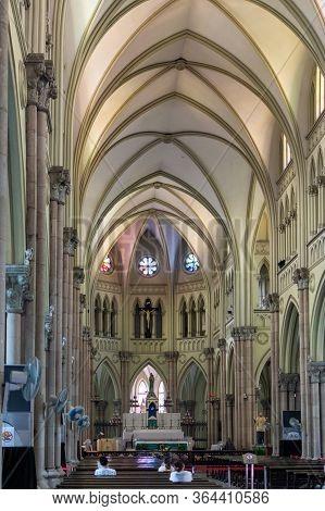 Shanghai / China - July 28, 2015: St. Ignatius Cathedral Xujiahui Cathedral, Roman Catholic Church L