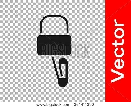 Black Lockpicks Or Lock Picks For Lock Picking Icon Isolated On Transparent Background. Vector Illus