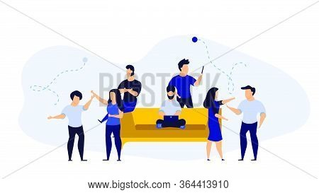 Office Day Vector Illustration Business Work Person Cartoon. Flat Character Concept Work Design. Man