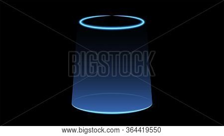 Magic Portal For Concept Design. Futuristic Teleport. Light Effect. Magic Portal Of Fantasy. Light R