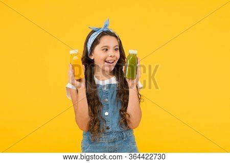 Healthy Food. Vitamin Nutrition. Fresh Smoothie. Girl Drinking Orange Fresh Juice Smoothie. Vegetari