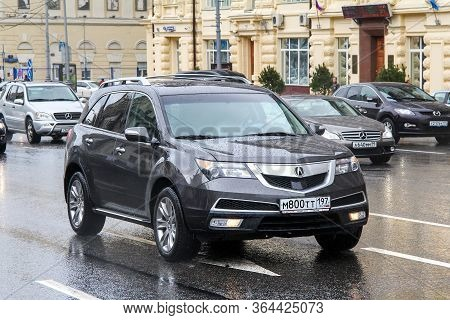 Moscow, Russia - June 3, 2012: Luxury Crossover Acura Mdx In The City Street.