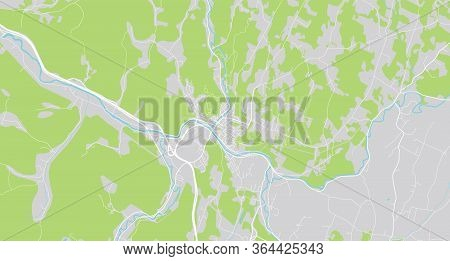 Urban Vector City Map Of Montpelier, Usa. Vermont State Capital