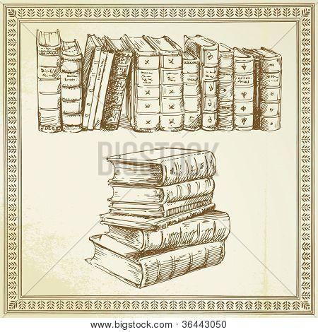 rare books - hand drawn set