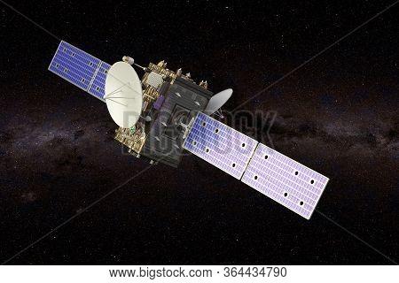 Interstellar Probe In The Space, 3d Rendering
