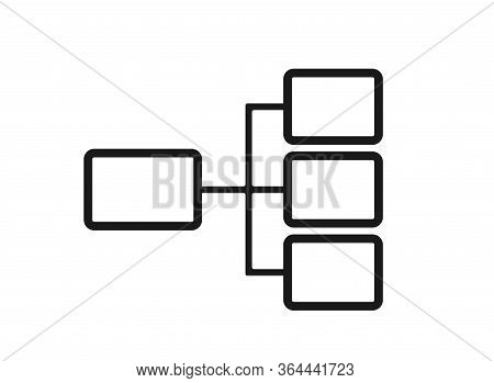 Flowchart Icon. Horizontal Hierarchy And Structure Flowchart Template. Infographic Design Element