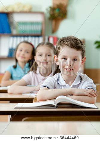Pupils are very attentive at classes. They listen to every word of teacher