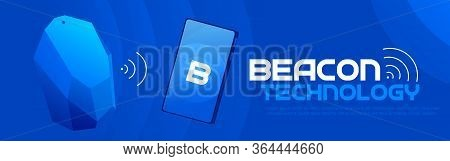 The Beacon Boom: Fitting Beacon Technology Banner Local Seo Strategy. Vector Flat Illuustration.