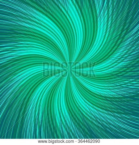 Comic Abstract Twisted Background With Green Radial And Rays Effects. Vector Illustration