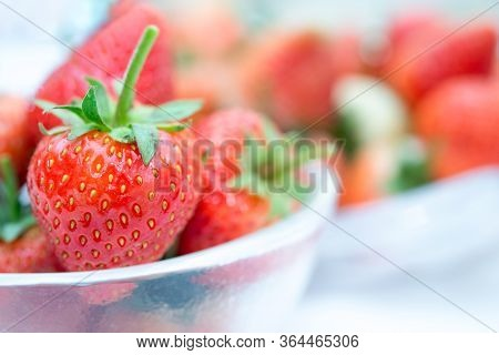 Strawberry Red Fresh Berry Fruit Color Sweet Juicy
