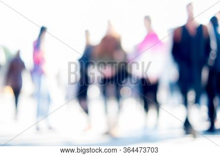 People In Street, Background, It Is Intentionally Blurred