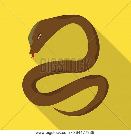 Vector Illustration Of Python And Serpent Icon. Set Of Python And Jungle Stock Vector Illustration.