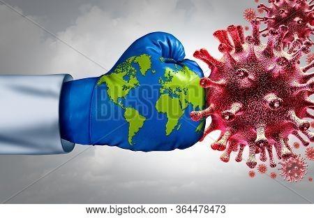 Global Virus Vaccine And Flu Or Coronavirus Medical Fight Disease Control As The International Commu