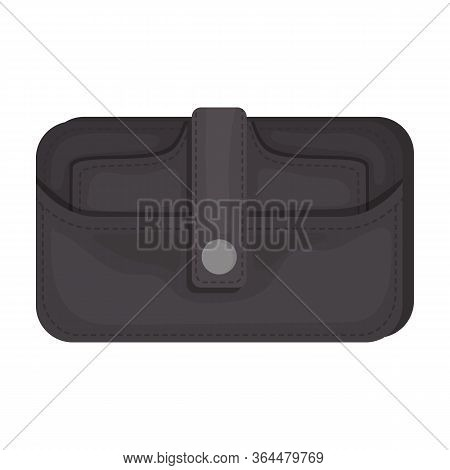 Leather Wallet Vector Icon.cartoon Vector Icon Isolated On White Background Leather Wallet.