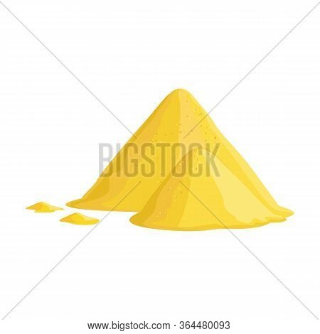 Pile Of Sand Vector Icon.cartoon Vector Icon Isolated On White Background Pile Of Sand.