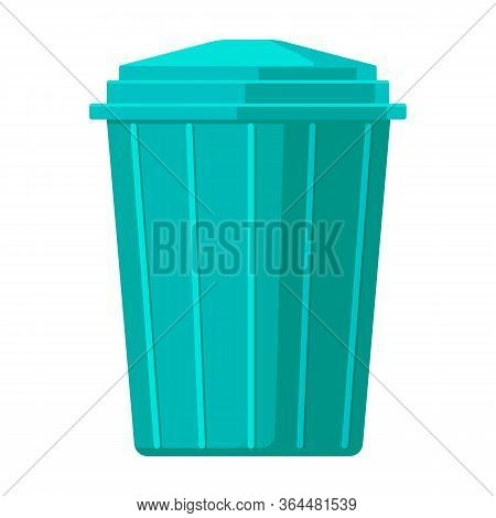 Trash Box Vector Icon.cartoon Vector Icon Isolated On White Background Trash Box.