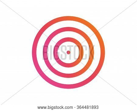 Target Of Success Illustration. Aim Or Goal Isolated Circle In Rainbow Colorful Design. Targeting Da