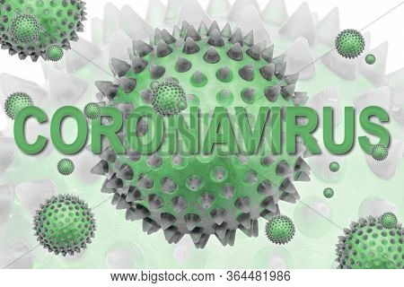 Inscription Coronavirus. Covid-19 Is An Infectious Disease Caused By Severe Acute Respiratory Syndro